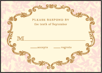 A Bientot Letterpress Reply Design Small