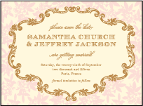 A Bientot Letterpress Save The Date Design Small