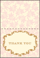 A Bientot Letterpress Thank You Card Fold Design Small