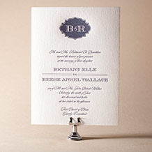 Addison Vintage Letterpress Invitation Design Small