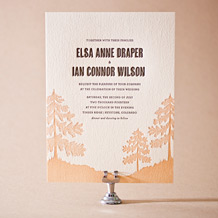 Adirondack Letterpress Invitation Design Small