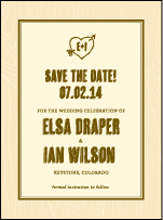 Adirondack Letterpress Save The Date Design Small