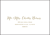 Ainsley Letterpress Reply Envelope Design Small