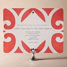 Alice Letterpress Invitation Design Small