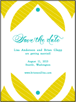 Alice Letterpress Save The Date Design Small