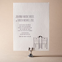 Allegory Modern Letterpress Invitation Design Small