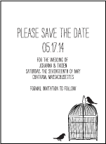 Allegory Modern Letterpress Save The Date Design Small