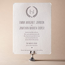Alouette Monogram Letterpress Invitation Design Small