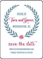 Alouette Monogram Letterpress Save The Date Design Small