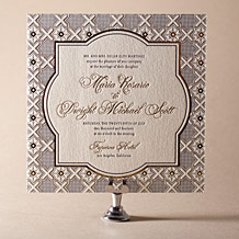 Amadore Antique Letterpress Invitation Design Small