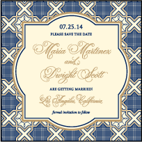 Amadore Antique Letterpress Save The Date Design Small