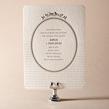 Amelie Letterpress Invitation Design Small