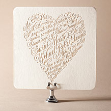 Amor Letterpress Invitation Design Small