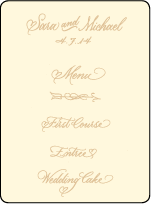 Amor Letterpress Menu Design Small