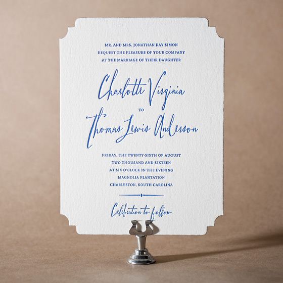 Anderson Letterpress Invitation Design Small
