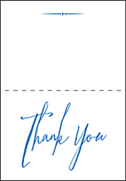 Anderson Letterpress Thank You Card Fold Design Small