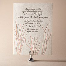 Antigua Letterpress Invitation Design Small