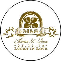 Antique Luck Letterpress Coaster Design Small
