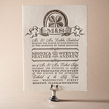 Antique Luck Letterpress Invitation Design Small