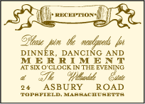 Antique Luck Letterpress Reception Design Small