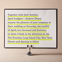 Architect Letterpress Invitation Design Small