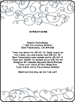 Aria Letterpress Direction Design Small
