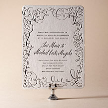 Aria Letterpress Invitation Design Small