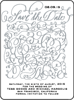 Aria Letterpress Save The Date Design Small