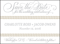Ashton Letterpress Save The Date Design Small