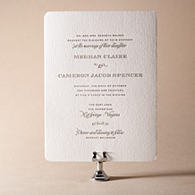 Ashwell Letterpress Invitation Design Small