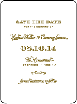 Ashwell Letterpress Save The Date Design Small