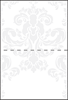 Augustine Damask Letterpress Placecard Fold Design Small