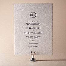 Austin Traditional Letterpress Invitation Design Small