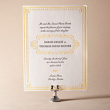 Avenue Letterpress Invitation Design Small