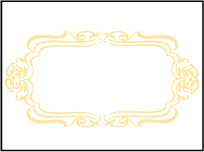 Avenue Letterpress Placecard Flat Design Small