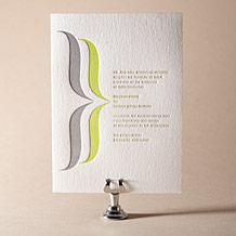 Avion Letterpress Invitation Design Small