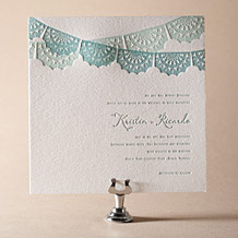 Barcelona Letterpress Invitation Design Small
