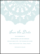 Barcelona Letterpress Save The Date Design Small