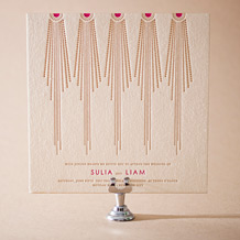 Bejeweled Letterpress Invitation Design Small