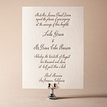 Belle Calligraphy Letterpress Invitation Design Small