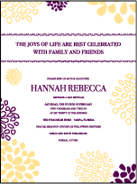 Bellini Letterpress Bat Mitzvah Design Small