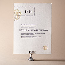 Bellini Letterpress Invitation Design Small