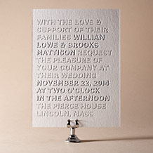 Bennett Simple Letterpress Invitation Design Small