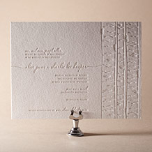 Birch Letterpress Invitation Design Small