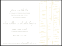 Birch Letterpress Save The Date Design Small