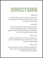 Bleecker Modern Letterpress Direction Design Small