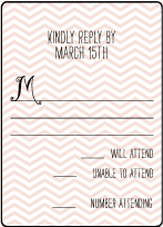 Boardwalk Letterpress Reply Design Small