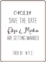 Boardwalk Letterpress Save The Date Design Small