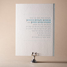 Bold Stripe Letterpress Invitation Design Small