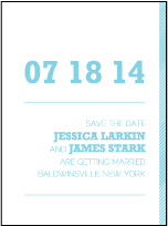 Bold Stripe Letterpress Save The Date Design Small